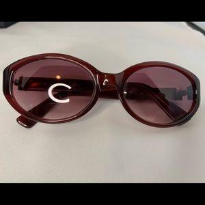 Vintage Coach Sabrina sunglasses burgundy S418